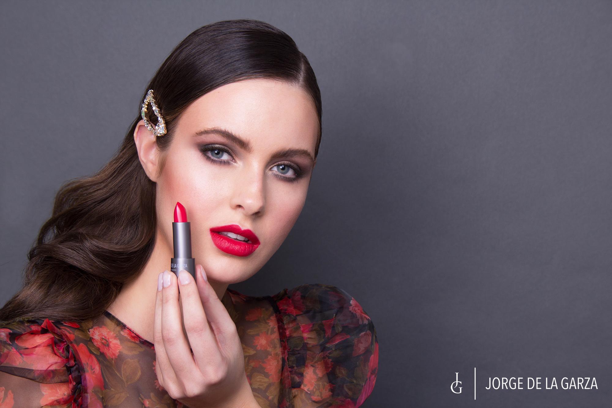 Fotos modelo maquillaje Jorge de la Garza