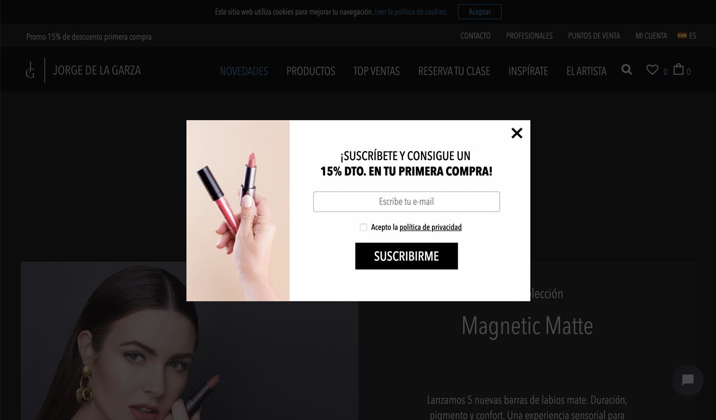 Diseño web Jorge de la Garza Pop-Up Marketing